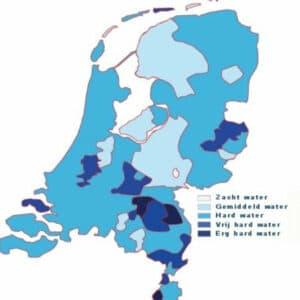 Kaart waterhardheid NL